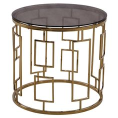 Armen Living Zinc Contemporary End Table - LCZINCLA