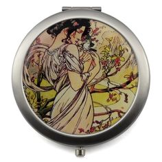 Four Seasons Compact Mirror - Design Glassware by Mont Bleu