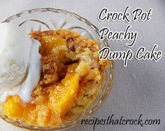Crock Pot Peachy Dump Cake - Recipes That Crock!