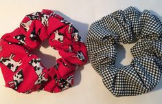 hair scrunchies scrunchy scruncheys Set of Two by thriftyvicki