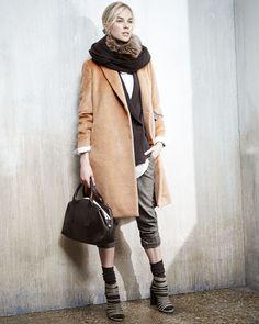 Brunello Cucinelli Cashmere & Brunello Cucinelli Pants | Neiman Marcus fall15