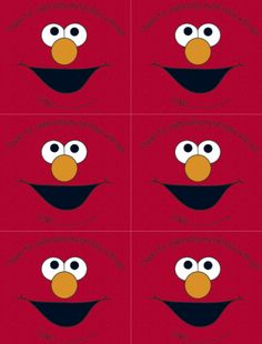 elmo face sticker for party favor bag Sesame Street Birthday Invitations, Birthday Party Invitations Free, Shower Invitations, Elmo Party Decorations, Elmo Party Favors, Party Bags, Boy Birthday Parties, 2nd Birthday, Birthday Ideas