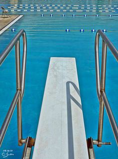 diving board . . .spent lots of practice hours for diving meets and fun times on one just like this!