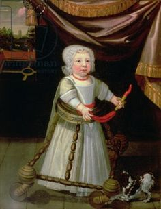 Portrait of a Boy with a Coral Rattle, c.1650-60 (oil on canvas)