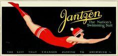 The Nation's Swimming Suit! #Jantzen #vintage #1920s #swimsuits #summer