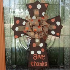 Not fall themed but something with Lutheran/theme for the month Thanksgiving Crafts, Thanksgiving Decorations, Fall Crafts, Decor Crafts, Holiday Crafts, Diy Crafts, Fall Door Decorations, Fall Decor, Front Door Decor