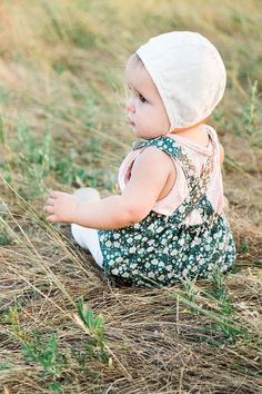 Gorgeous little ensemble - could us the Twig and Tale Evergreen pattern to make the bonnet...
