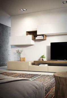 Salotto units in living room interior design Living Room Tv Unit Designs, Living Room Wall Units, Living Room Styles, Ikea Living Room, Living Room Cabinets, Living Room Modern, Interior Design Living Room, Bedroom Modern, Suites