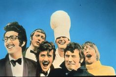 Monty Python - British surreal comedy group who created Monty Python's Flying Circus, a British television comedy sketch show along with several feature-length films. Members Graham Chapman, John Cleese, Terry Gilliam, Eric Idle, Terry Jones, and Michael Palin.
