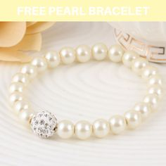 You like this bracelet? We are giving away FREE Pearl bracelets, just pay shipping. For A LIMITED TIME ONLY!!! Click link in bio to get your FREE Pearl Bracelet +GIFT Now #diamonds #pearls #beauty #jewelry #thebest #gift #mom #birthday #wedding #luxury #ring #heart #adorable #princess #womenstyle #swarovski #gold #fabulous #engagement #perfection #stone #white #love #necklace #diamonds_jewelrys #free