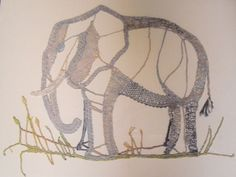 Lovely Elephant ... in Bobbin Lace by Patty Dowden ! Quite amazing !!!