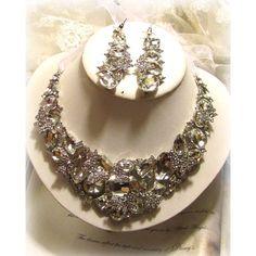 Wedding jewelry set OOAK Bridal bib necklace by BijouxandCouture, $115.50