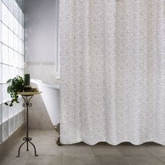 Features:  -Machine washable.  -Metro Farmhouse collection.  Product Type: -Shower curtain.  Color: -Linen.  Material: -100% Cotton.  Pattern: -Solid.  Hooks Required: -Yes. Dimensions:  Overall Heigh