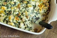This gluten free, low carb, THM S, Chicken Bacon Caesar Casserole is great when you are pressed for time. It is easy, flavorful, and can be made ahead.