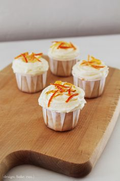 passionfruit cupcakes with citrus buttercream frosting  ingredients:  cupcakes: 1-1/4 cup all-purpose flour 2/3 cup granulated sugar 1 tsp b...