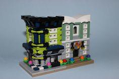 LEGO MOC Mini Modular: Little Lime Corner and Art Store by John Parilla
