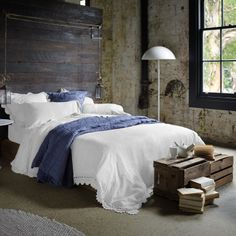 Sheridan bed linen - every time I walk past and see the grey version of this I think, that would be amazing.