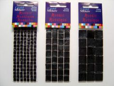 Black Mosaic Tile Stickers