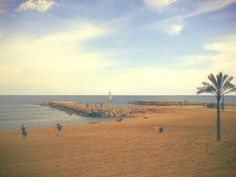 Fell in love with this view♥ Barceloneta