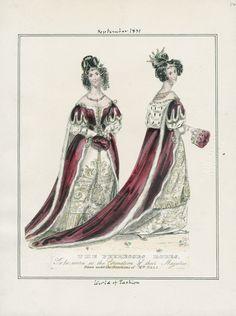 September 1831, Roben für Krönungszeremonien einer Peeres (Ehefrau eines Peers [Angehöriger des hohen Adels in Großbritannien/Mitglied des britischen Oberhauses])