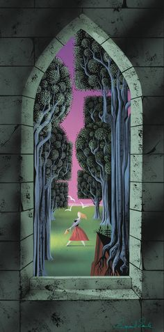 Sleeping Beauty Concept Art / Storyboard Art by Eyvind Earle Walt Disney, Disney Art, Sleeping Beauty Art, Eyvind Earle, Fantasy Princess, Disney Concept Art, Disney Animated Films, Fan Art, Art Background