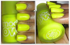 Models Own Ice Neon nail polish in Luis Lemon