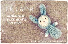 Le Lapin, el Conejito Sonajero Amigurumi- Patrón Gratis en Español