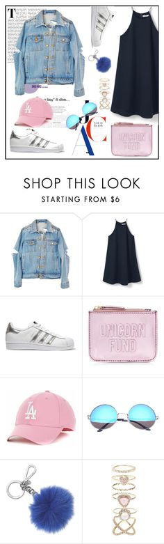 chilly night by hellowaffles on Polyvore featuring MANGO, adidas Originals, New Look, SW Global, Accessorize, Michael Kors, dress, pastel, Superstars and unicornfund