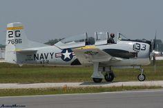 North American T-28B Trojan.  A popular design for a foam RC airplane model.