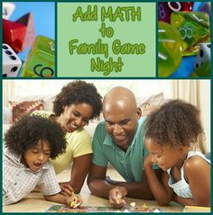 Make #math the theme of your next family game night! See our #LearningToolkit blog for suggestions: Teaching Math, Teaching Resources, Teaching Ideas, Maths Day, Fun Math, Family Math Night, Curriculum Night, Kids Learning Activities, Math Skills