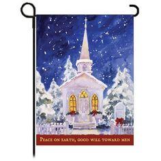 Peace on Earth Christmas flag.