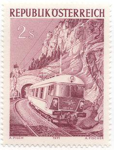 Austria 1975 Railway 125th Anniversayr Of 1st Austrian Stamp