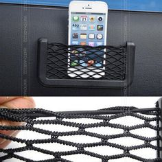 Car Phone Net Holder Convenient stick glove network Car Auto String Mesh Bag Storage Pouch For Cellphone Gadget Cigarette