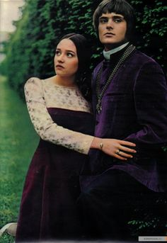 Olivia Hussey, Leonard Whiting in 'Romeo & Juliet', 1968.