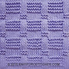 Easy knitting stitch with rows of reverse garter and stockinette tiles. The beautiful detailing is created by embellished stockinette ribs. Knit Purl Stitches, Knitting Stiches, Knitting Charts, Easy Knitting, Loom Knitting, Baby Knitting Patterns, Stitch Patterns, Crochet Patterns, Knitted Washcloths