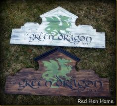 Green Dragon Inn sign LOTR, Hobbit
