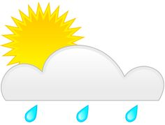 The temperatures have been extreme! First rain and now sun!  Image Credit: http://weblogs.sun-sentinel.com/news/weather/hurricane/blog/bright-sun-by-rain-cloud.png