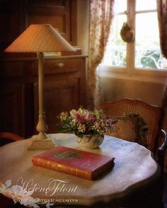 A rose affair - Photo © Hélène Flont‿ ◕✿ French Country Cottage, Country Farmhouse, Cosy Corner, Beautiful Young Lady, Affair, Beautiful Flowers, Sconces, Lamps, Rose