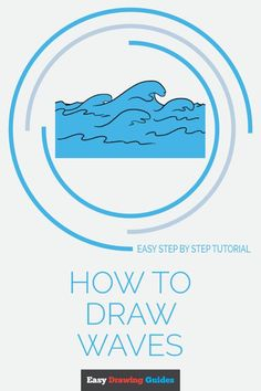 How To Draw Steps, Learn To Draw, Ocean Drawing, Beach Watercolor, Watercolor Paintings, Drawing Tutorials For Kids, Popular Cartoons, I Like Dogs, Easy Drawings