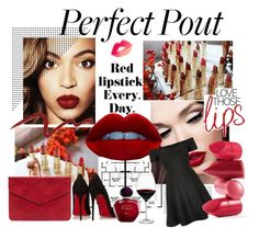 """""""matte lips"""" by nikitanikita ❤ liked on Polyvore featuring Clarins, Topshop, Christian Louboutin, Christian Dior, River Island, Holmegaard and Rossetto"""