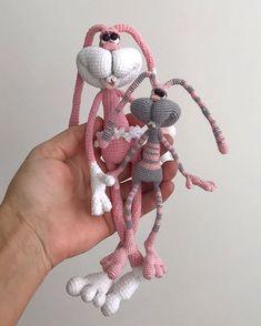 Bunny Crochet, Crochet Animal Amigurumi, Amigurumi Toys, Cute Crochet, Crochet Animals, Crochet Dolls, Small Sculptures, Bunny Toys, Fabric Dolls