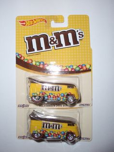 2015 HOT WHEELS POP CULTURE M & M's MARS VOLKSWAGEN DRAG BUS LOT OF ( 2)) #HotWheels
