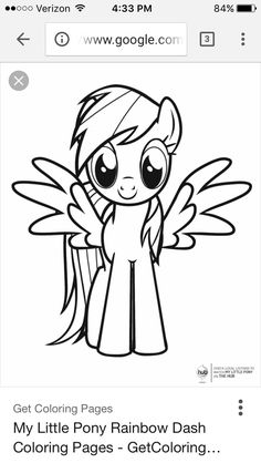 This is a template for rainbow dash