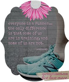 Everyone is a runner...