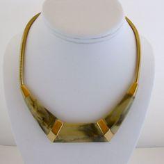 Vintage Trifari Modernist Lucite Choker Necklace
