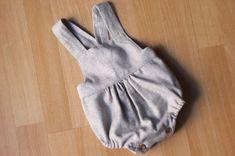 DIY Tutorial y patrones de ropa para bebes. Como hacer peto bebe tutorial and free baby romper pattern
