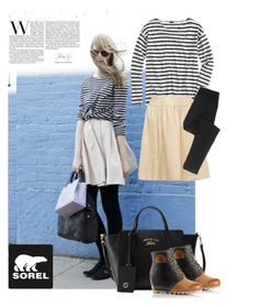"""""""The 1964 Premium Wedge from SOREL: Contest Entry"""" by ella178 ❤ liked on Polyvore featuring SOREL, J.Crew, Gucci, Chanel and sorelstyle"""