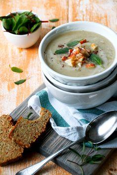 Apfel-Sellerie-Suppe mit Hirsebrot | Foodlovin'