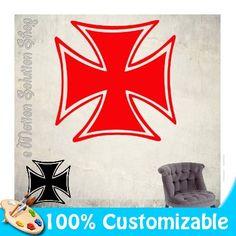 Sticker Autocollant Croix de Malte