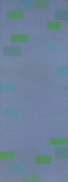 "bstract Painting (Blue). 1952. Oil on canvas, 9' 1/4"" x 40 1/8"" (275 x 102 cm)"